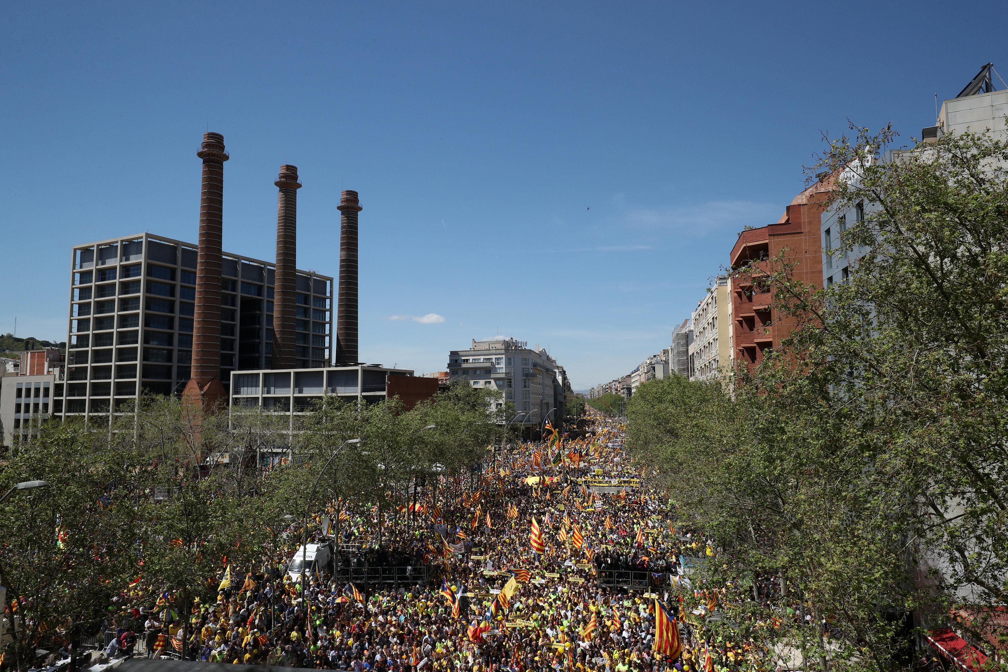 Протести Барселона Каталонія