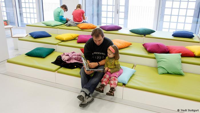 В отделе детской книги библиотеки Штутгарта