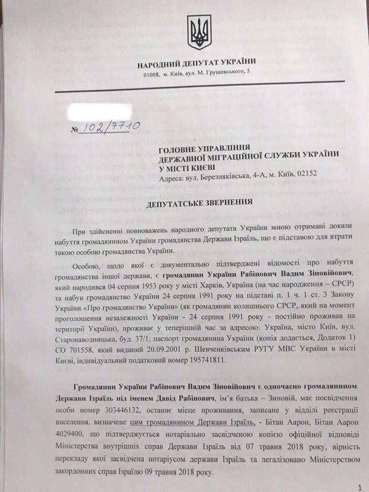 Документи Рабінович