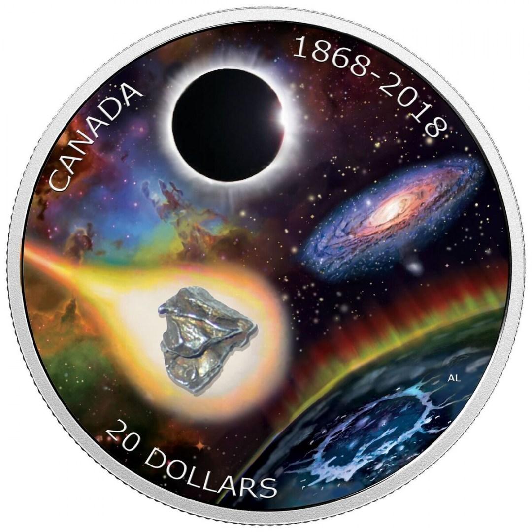 монета з метеоритом