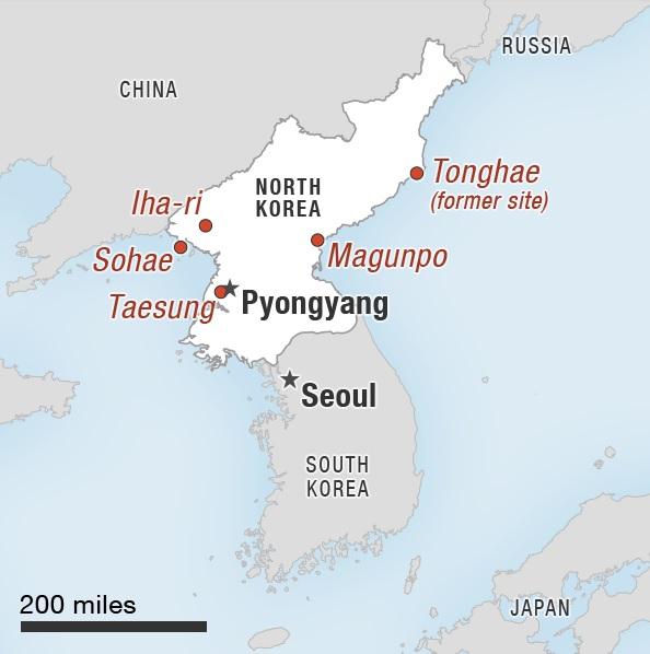 Пунгері - далі на півночі КНДР