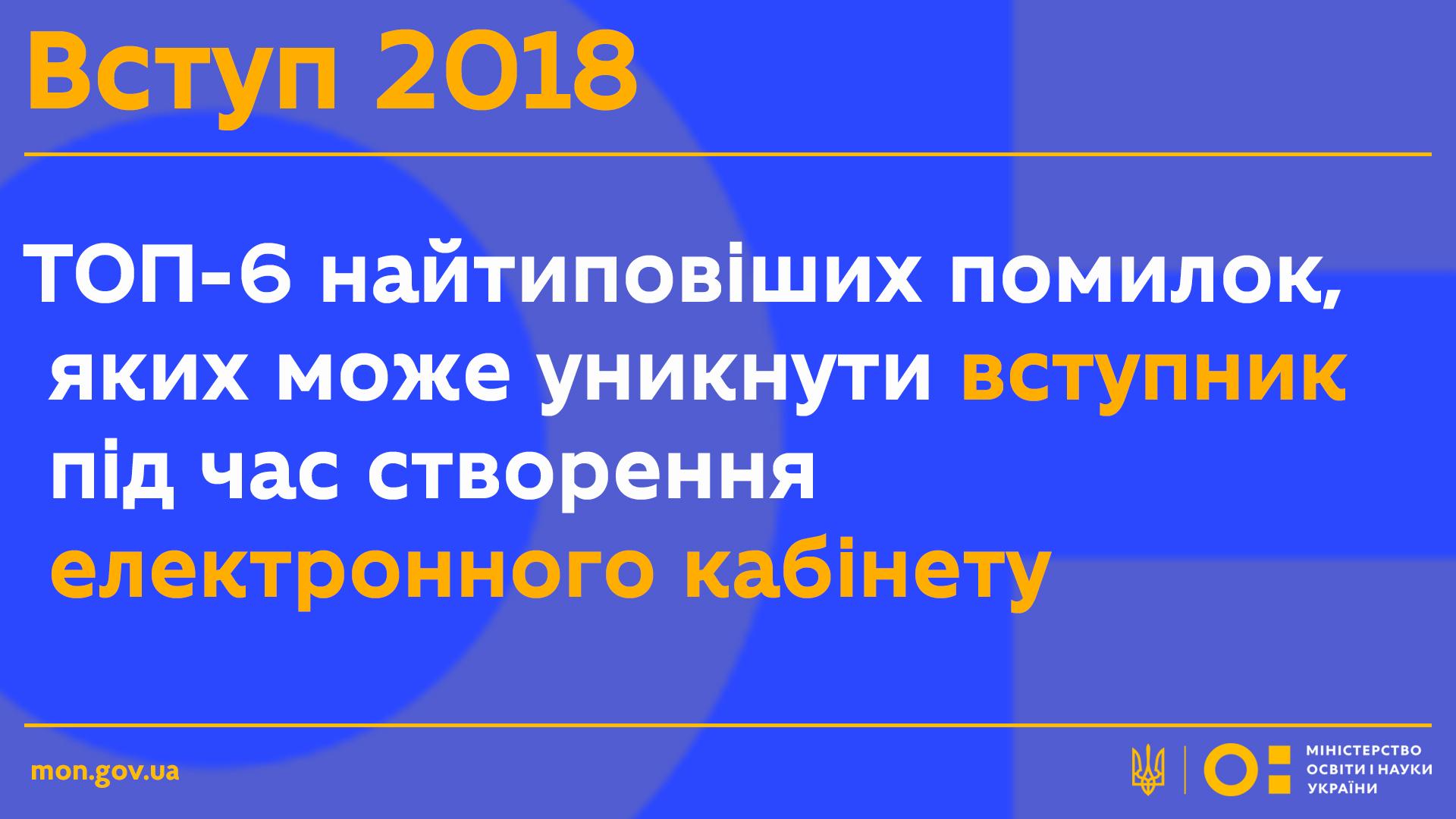 МОН ВСТУП-2018