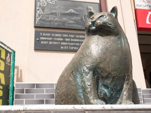 скульптура кота в Одессе