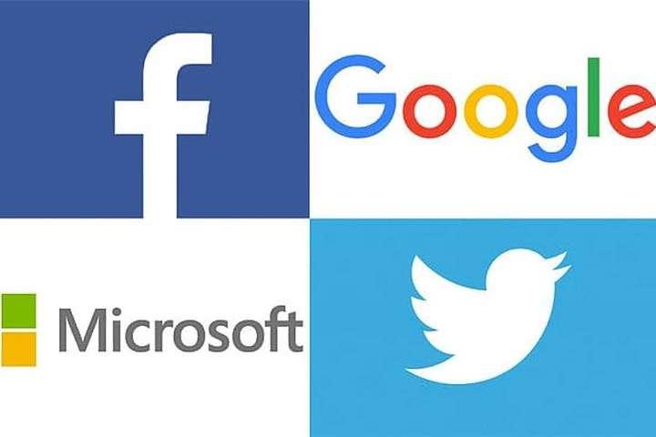 Google, Facebook, Microsoft і Twitter