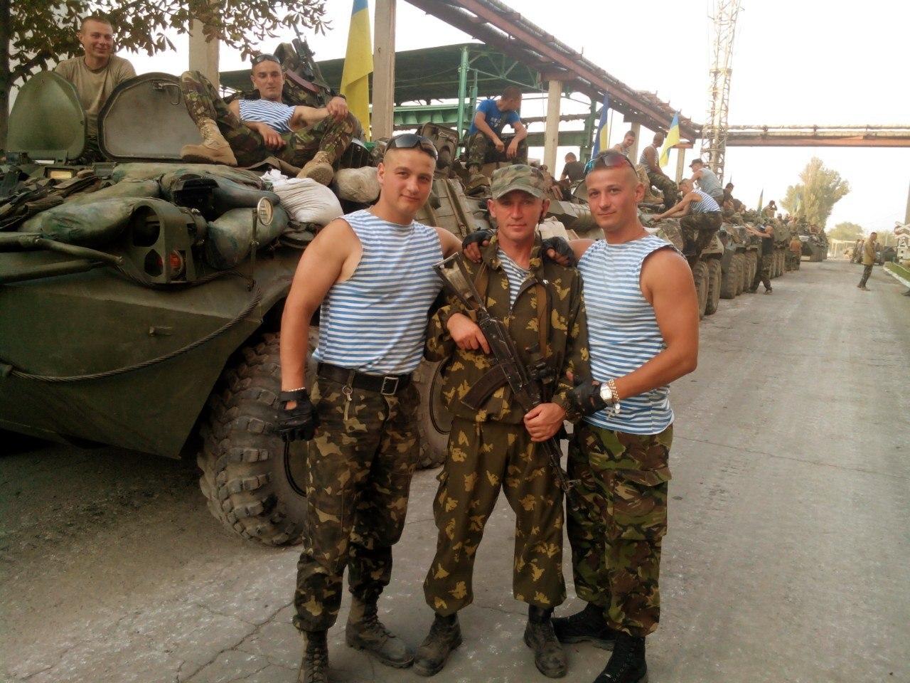 Військові зі складу 80-ї аеромобільної бригади, Луганщина, 2014 р.