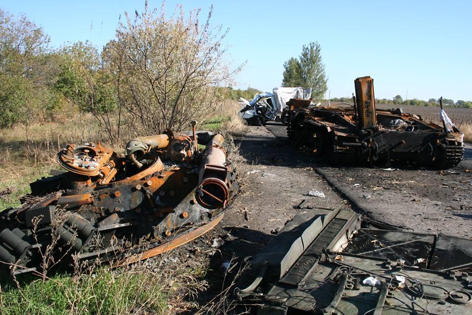 Танк 17-ї ОТБР, знищений бойовиками