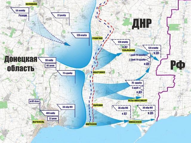Карта звільнення Донбаса