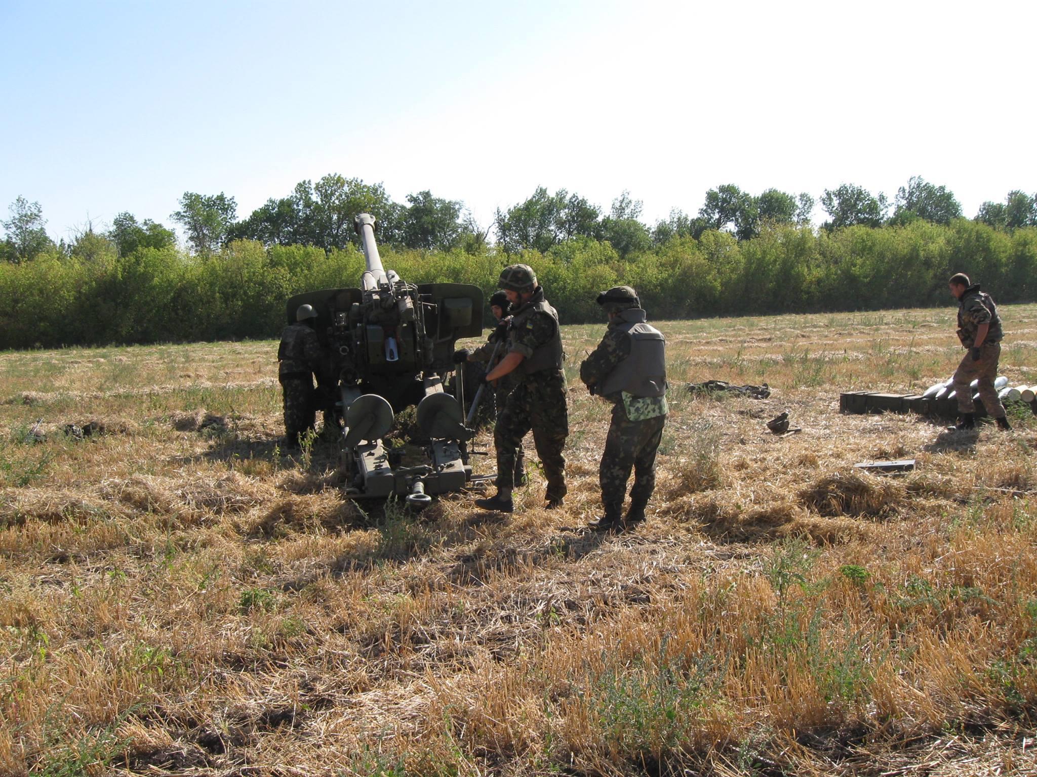 Артилеристи 55-й артбригади на бойовій позиції
