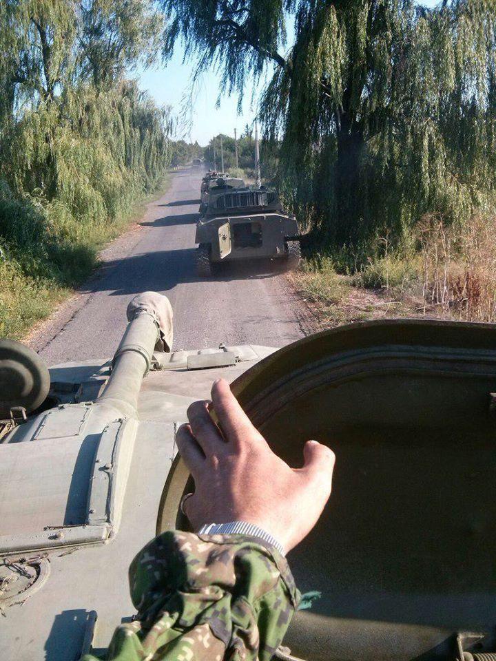 САУ «Гвоздіка» одній з бригадних артгруп. Новоласпа, 2 вересня 2014 р.