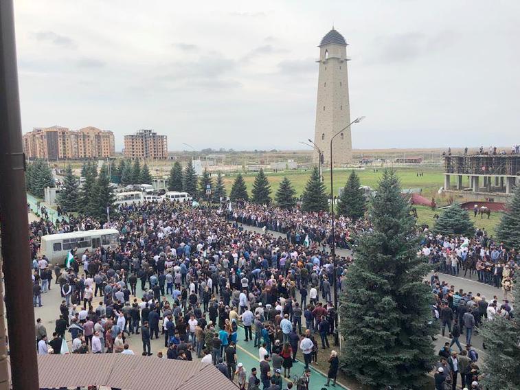 Протест станом на 4 жовтня Джерело: telegram.me/ingushetia_2018