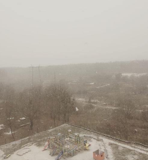 Перший сніг Київ