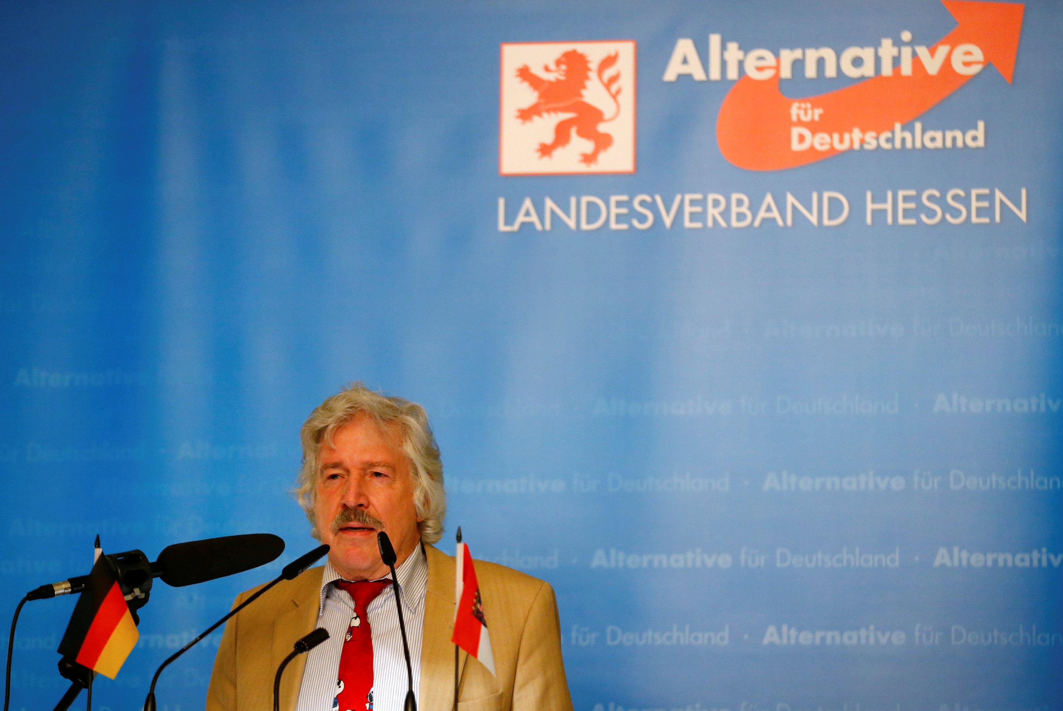 """Ультраправа євроскептична та антиімігрантська партія """"Альтернатива для Німеччини"""". Під час виборчої кампанії в Вісбадені / Фото REUTERS"""