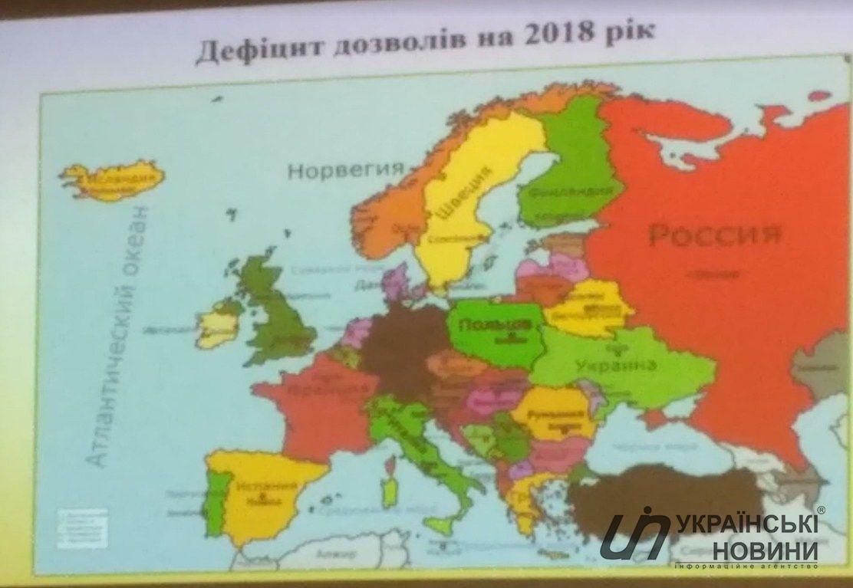 карту з російським Кримом
