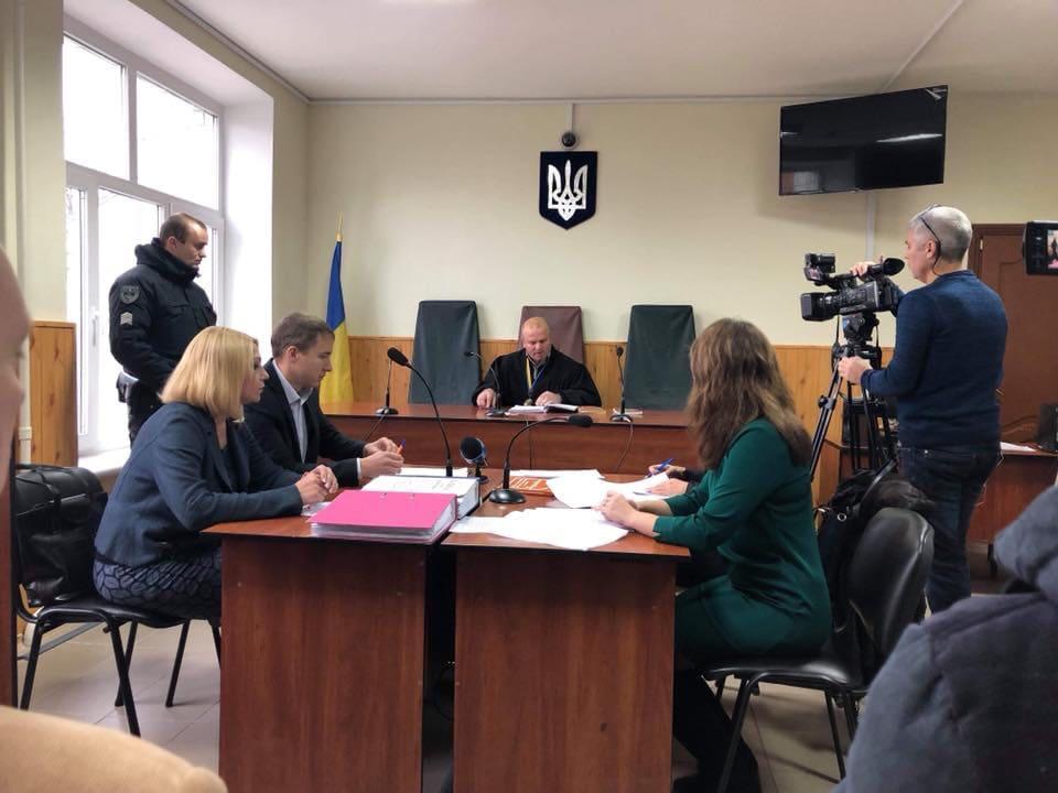 Засідання Зарічного суду міста Суми на чолі з Миколою Шершаком, який виніс рішення про усунення з посади секретаря міськради з команди Терещенка
