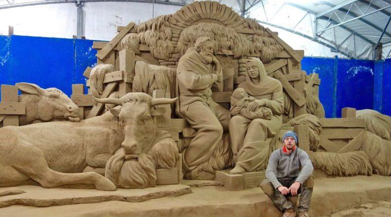 вертеп у Ватикані зробили з піску