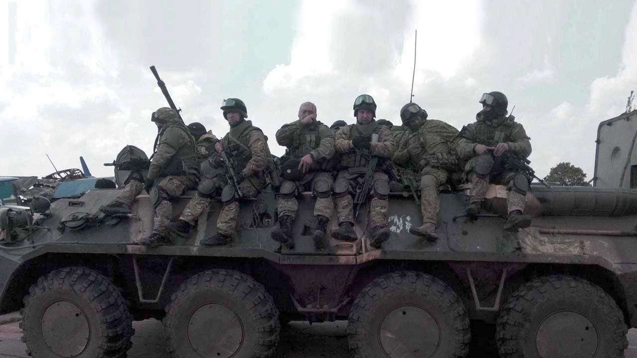 Підполковник Аніщенко під час боїв під Слов'янськом