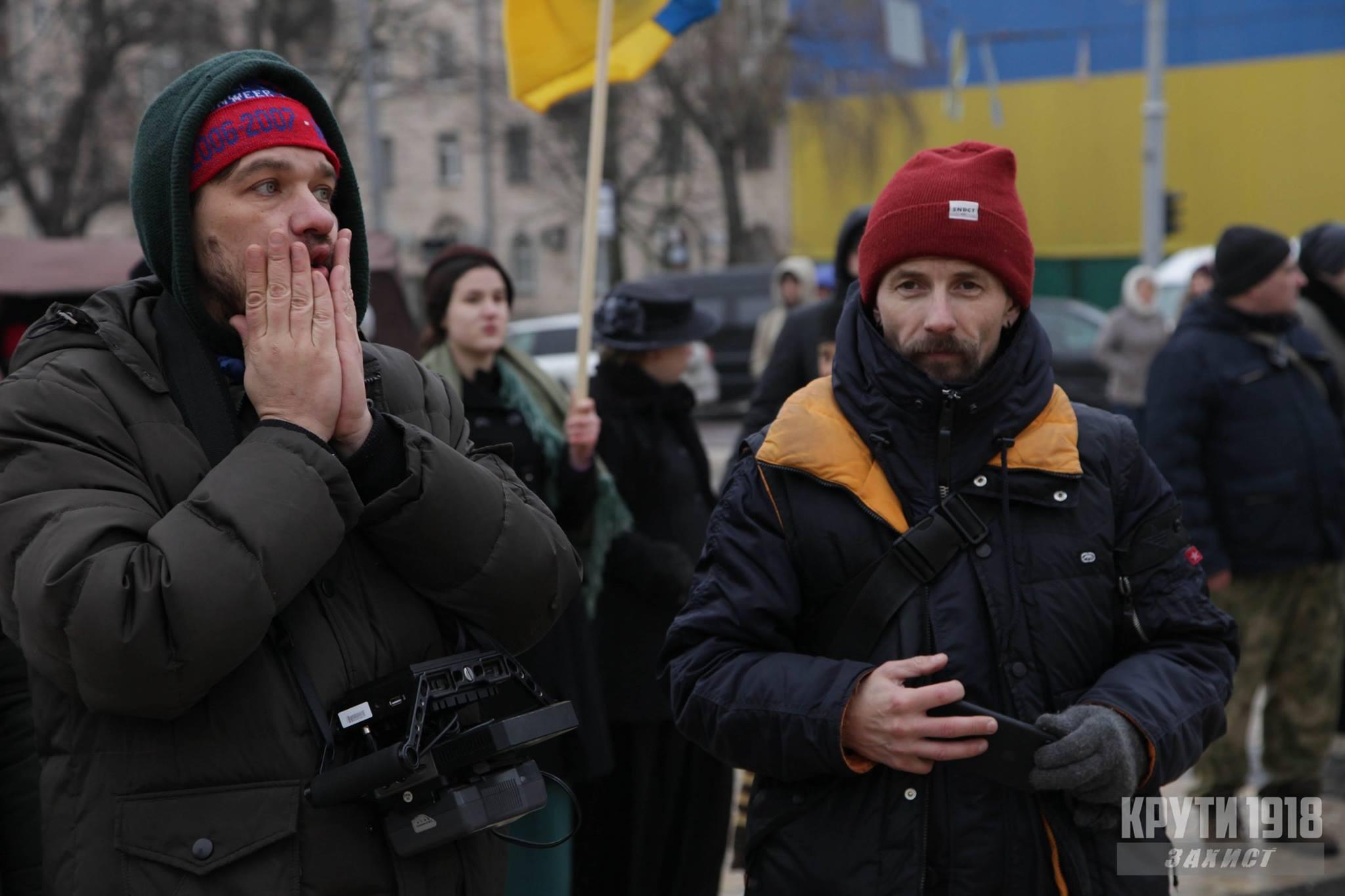 Постановщики за работой. Режиссер Алексей Шапарев и оператор Сергей Пивненко