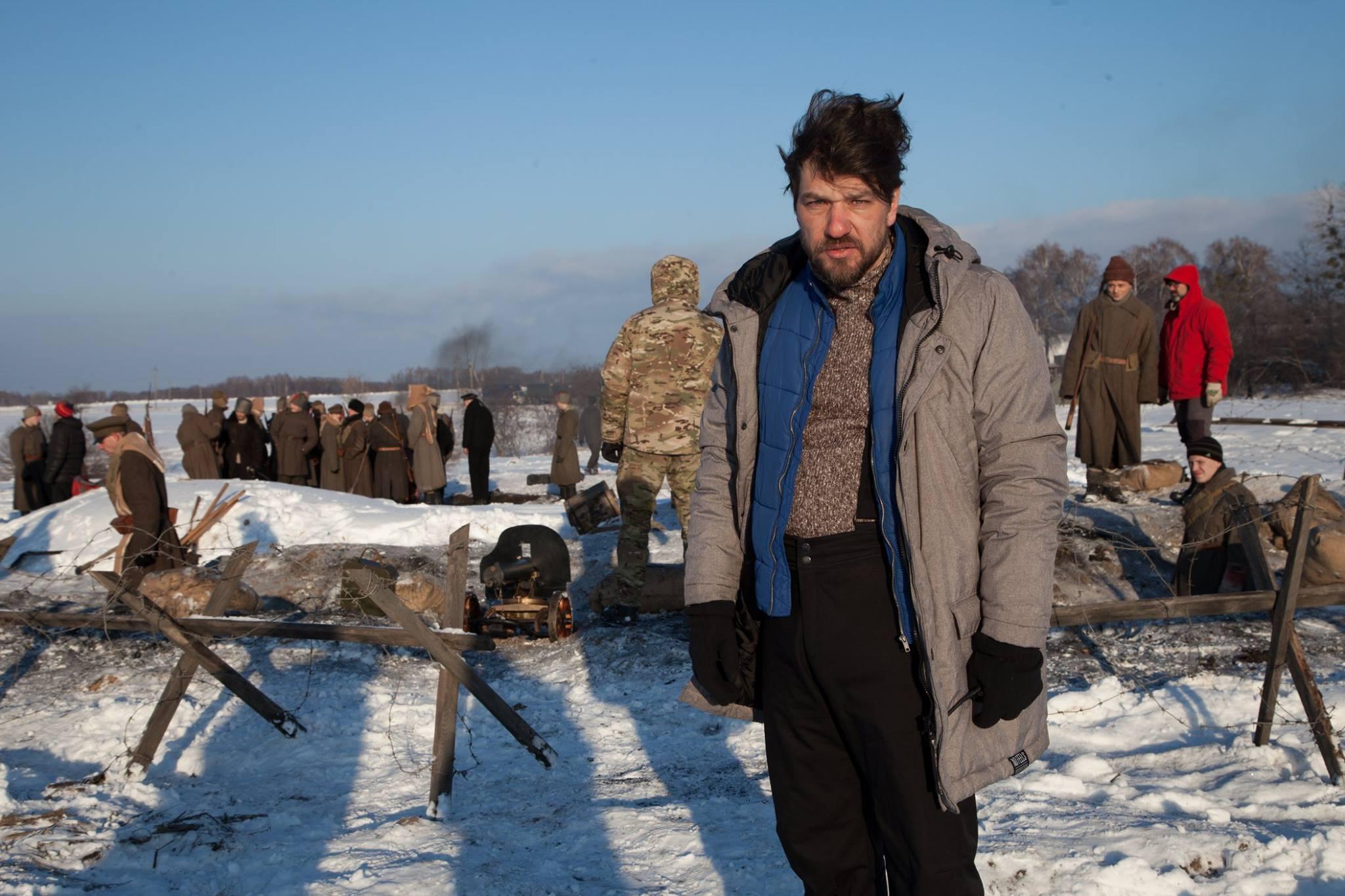 Алексей Шапарев на съёмках