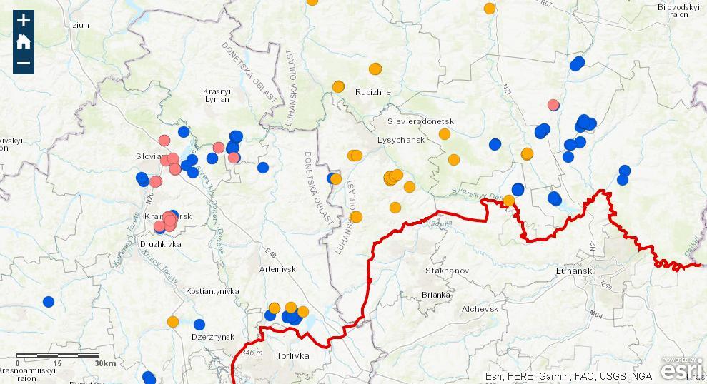 нформаційна карта забруднених мінами територій