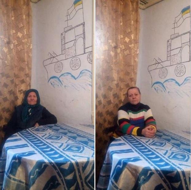 бабуся та мама нашого військовополоненого моряка Володимира Терещенка