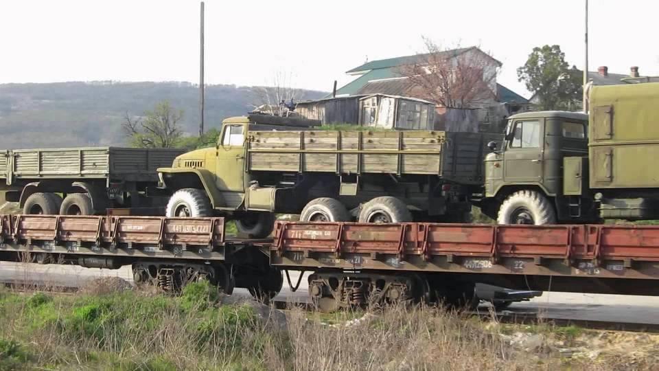 Захоплена автомобільна техніка, призначена для відправки в Україну, червень 2014 р.