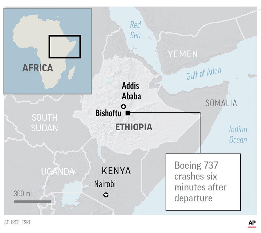 Катастрофа літака в Ефіопії