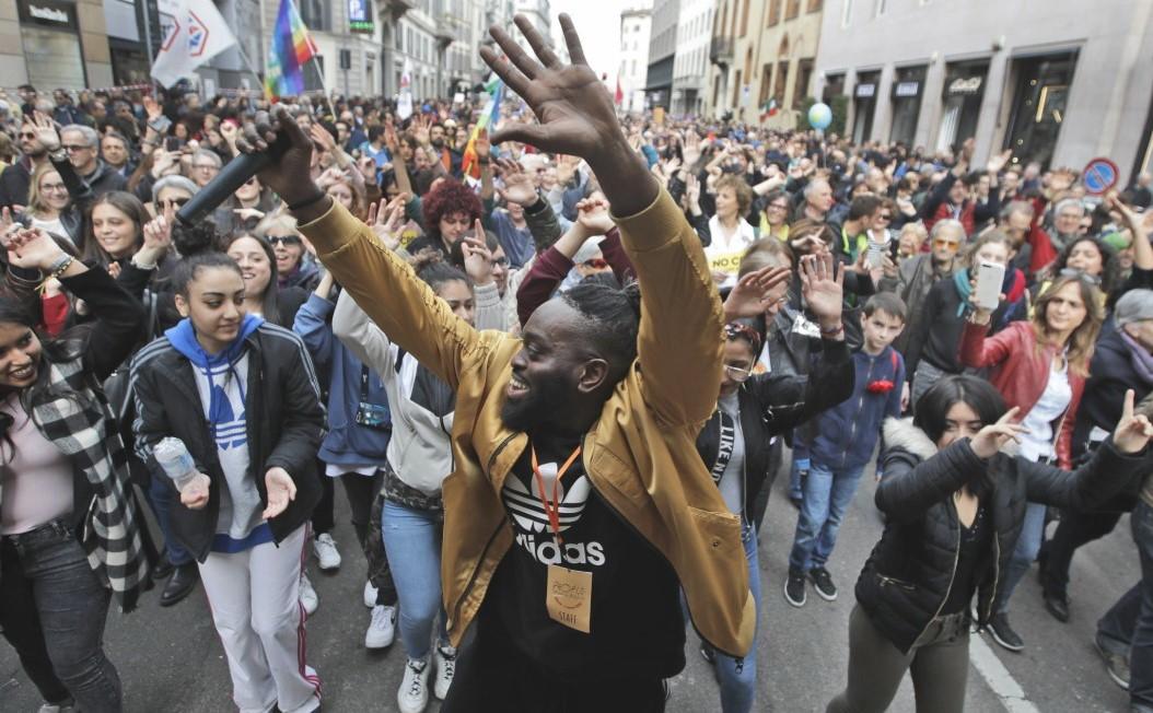 антирасистський марш Мілан