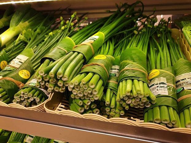 Бананове листя замість пластика