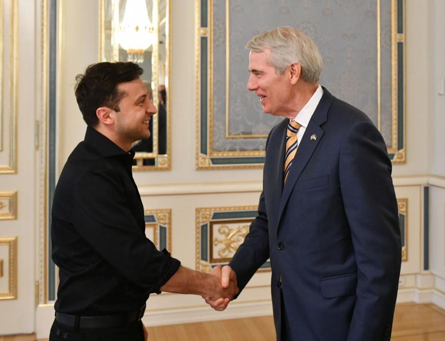 Президент України Володимир Зеленський 30 травня зустрівся із сенатором США Робертом Портманом.