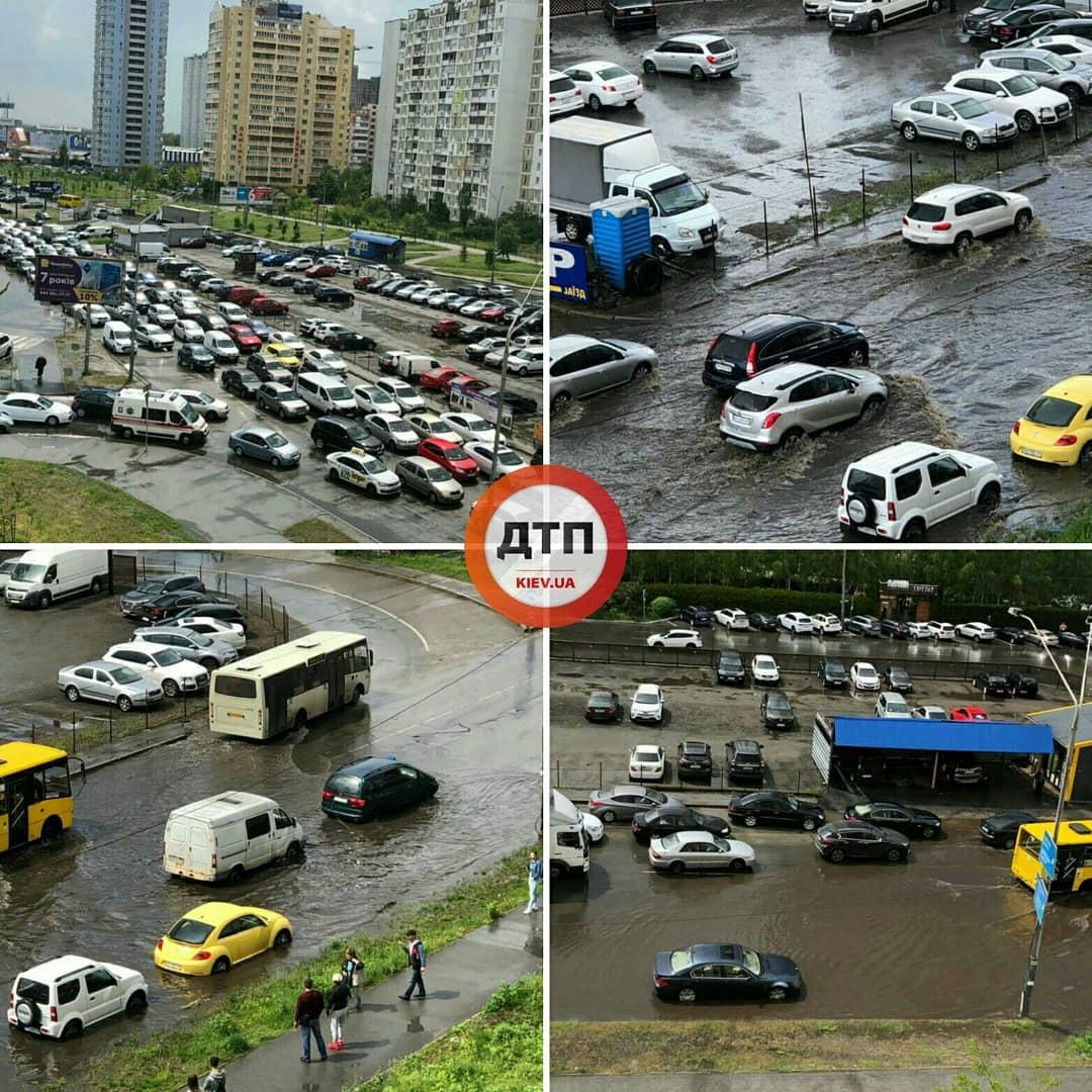 У Києві затопило Позняки