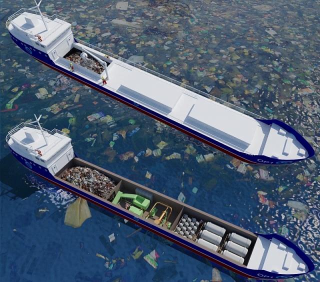 корабель-завод з переробки сміття