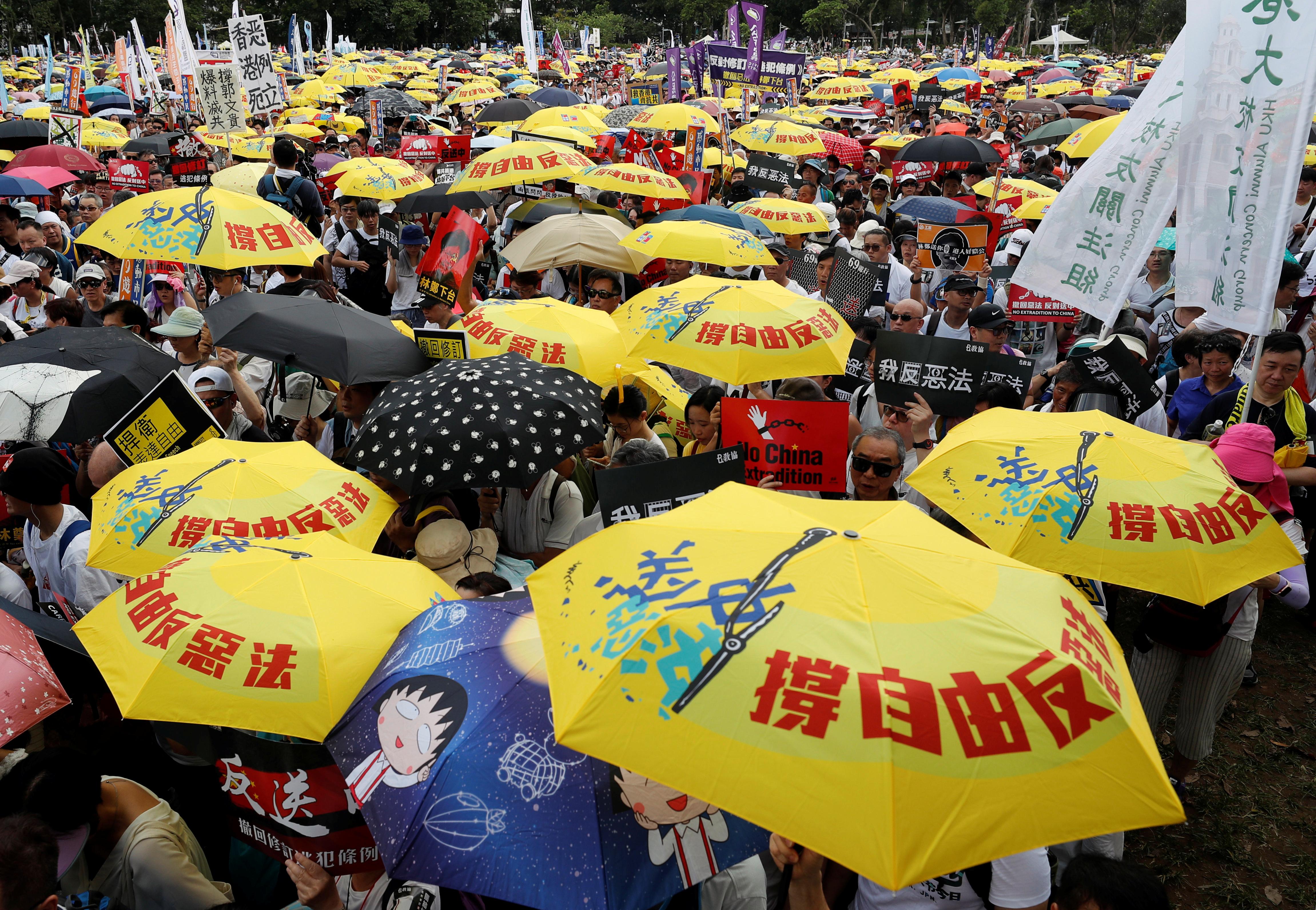 протест Гонконг