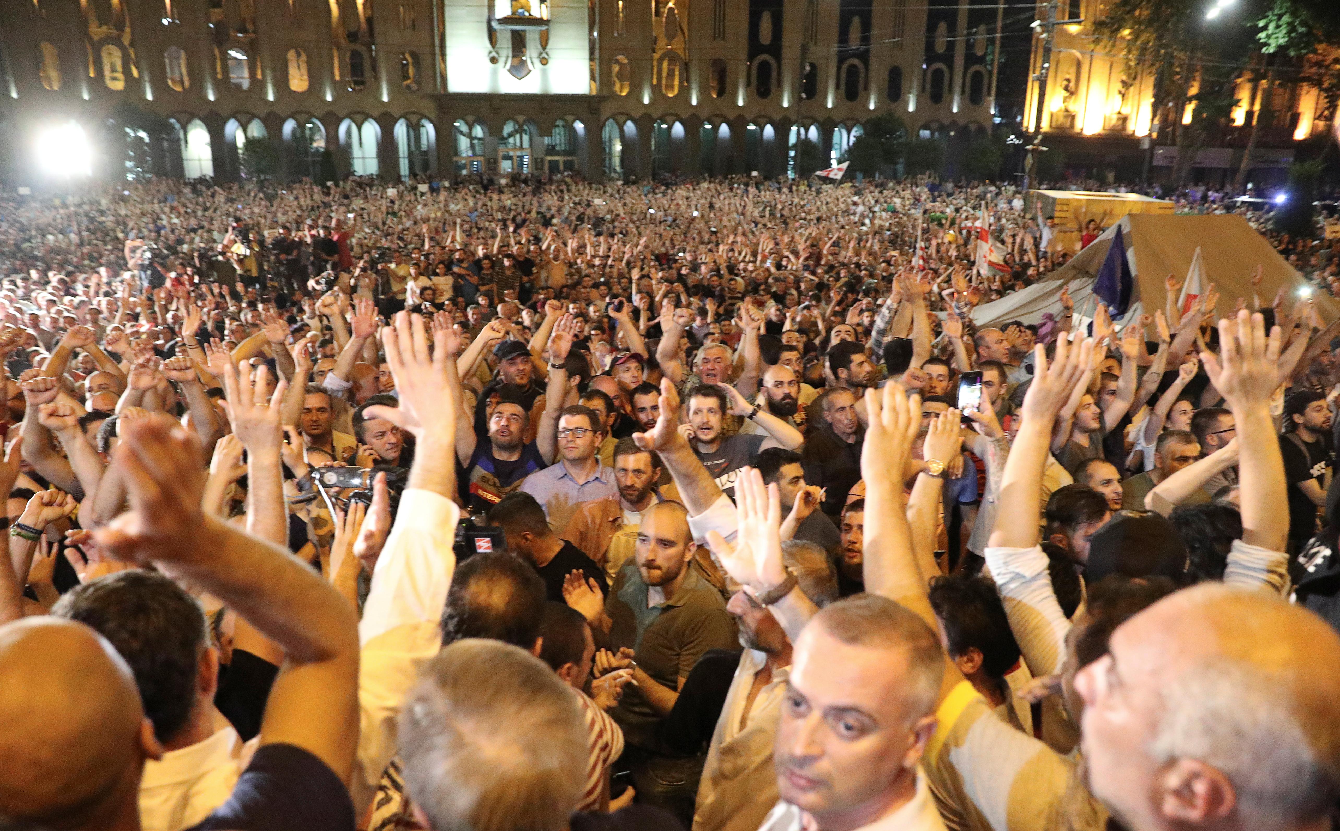 протест тбілісі грузія