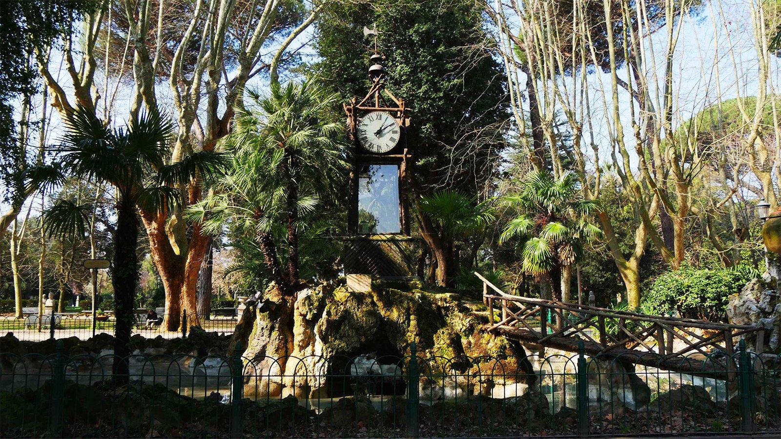 Водяные часы в Риме (вилла Боргезе)