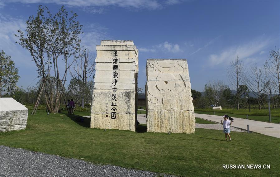 Руины древнего города Лянчжу (Китай).