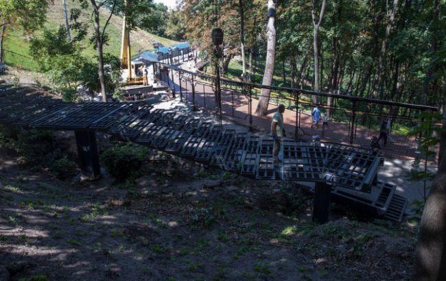 будівництво сходів до Алеї художників і Володимирської гірки