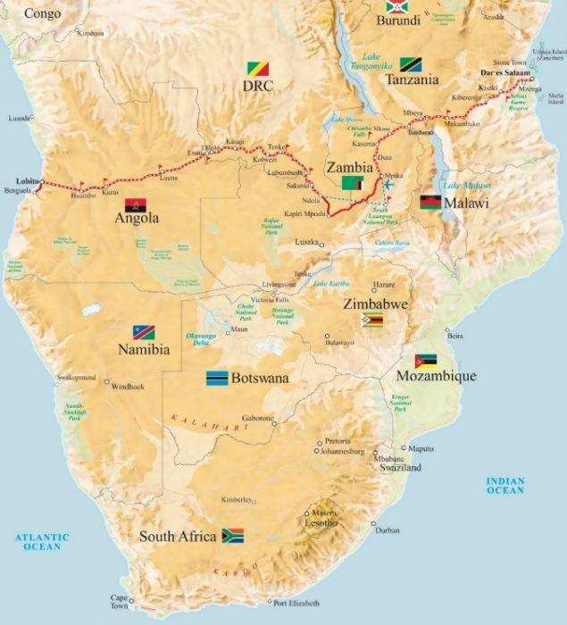 потяг африка