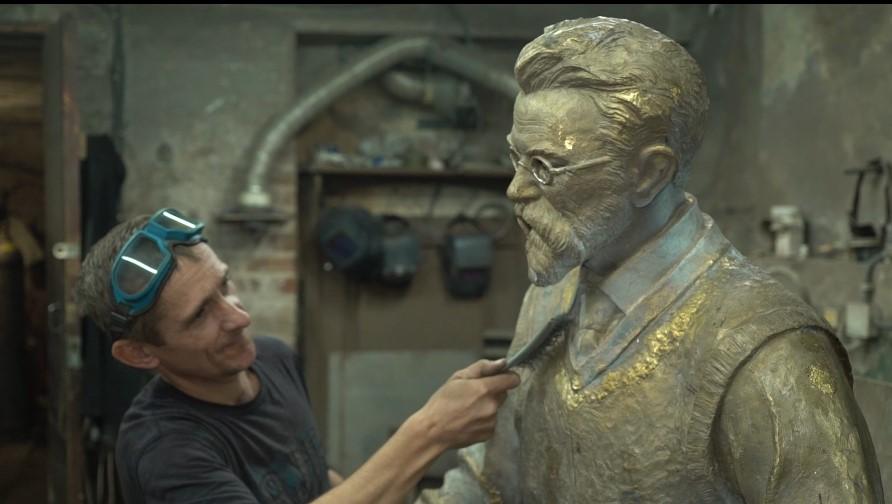 скульптура Вернадського з борщем