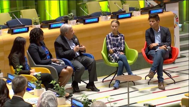 ООН Грета Тунберг