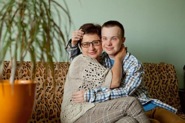 Богдан Кравчук з мамою