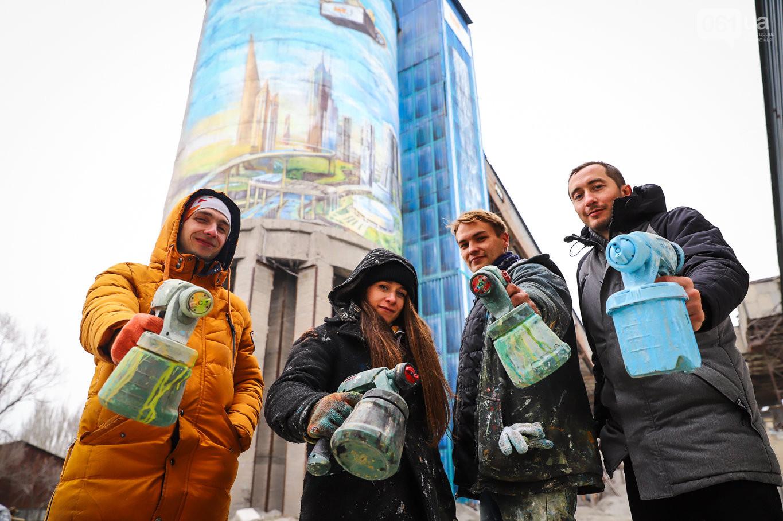У Запоріжжі намалювали найбільший мурал в Україні