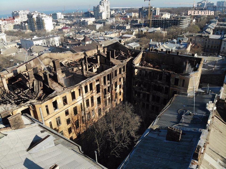 коледж в Одесі після пожежі