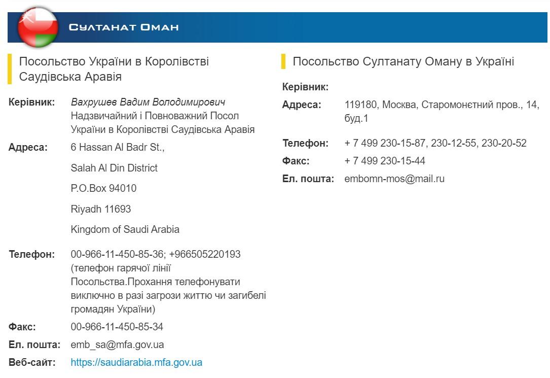 ман не має посольства в Україні, його функції виконує посольство в Москві