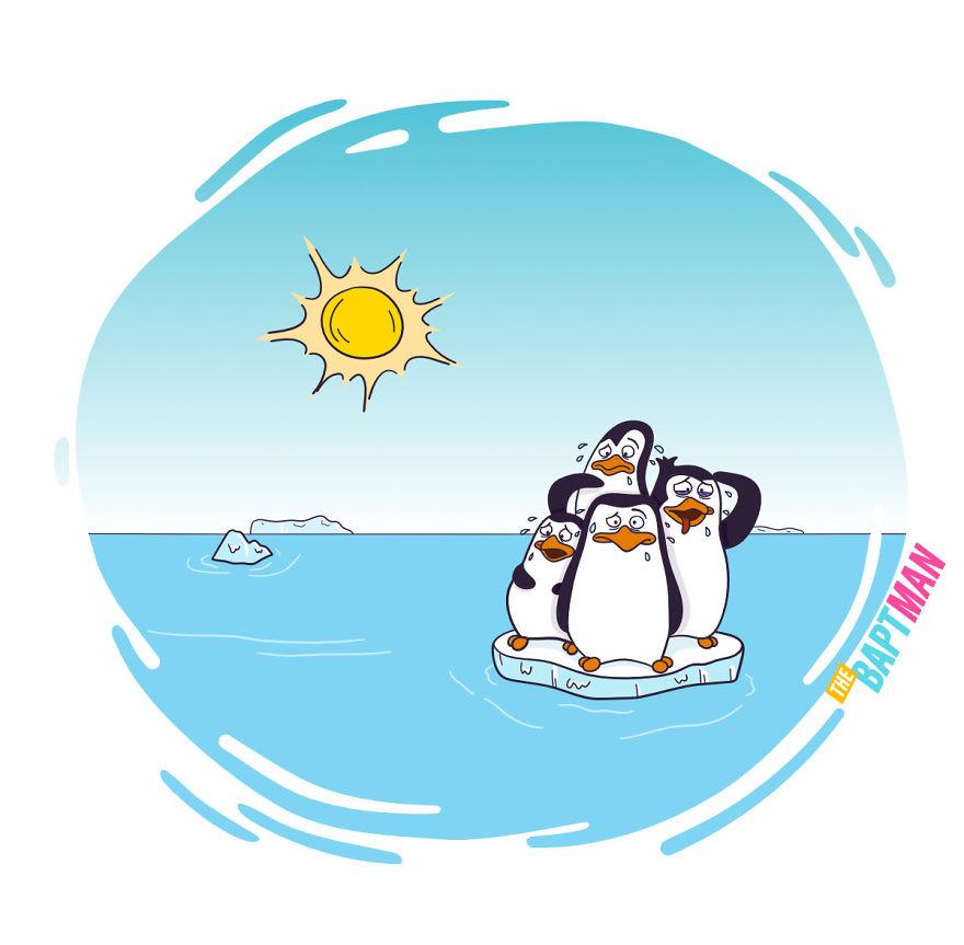 Пингвины и глобальное потепление