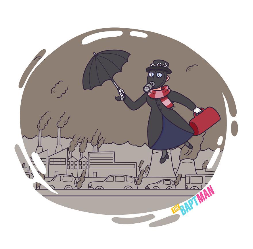 Мэри Поппинс и загрязнение