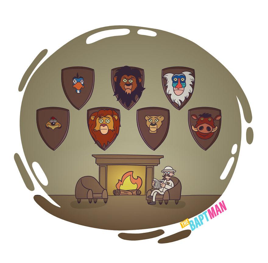 Король Лев и охота