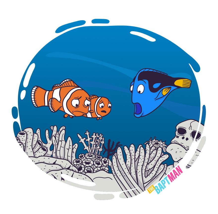 Немо и мертвые кораллы