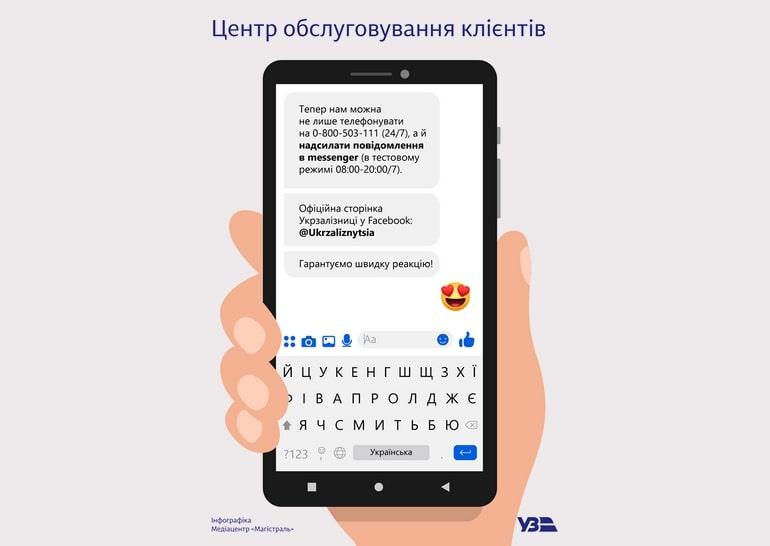 """""""Укрзалізниця"""" оголосила про рішення запустити канал комунікації у Facebook"""