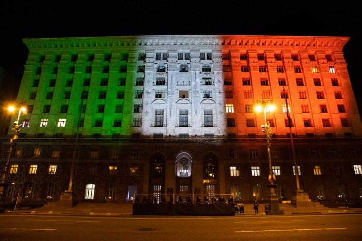 підсвітили в кольори італійського прапора