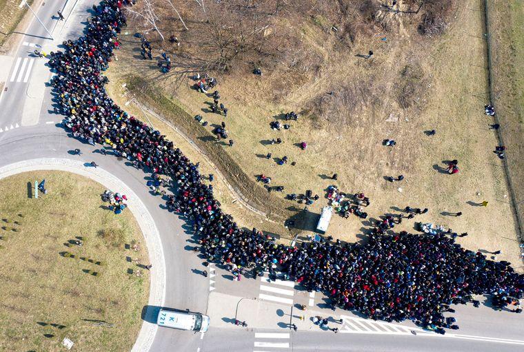 черги кордон українці
